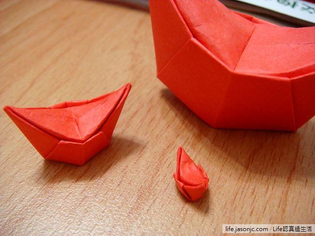紅元寶摺紙玩具DIY