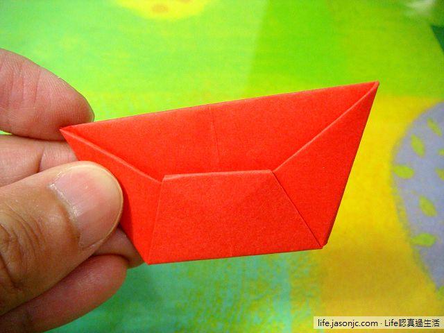 紅元寶摺紙玩具DIY教學
