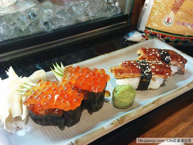 生魚片和魚卵壽司@東の龍番 | 台北市松山區