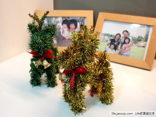 聖誕麋鹿擺飾、聖誕裝飾花環